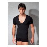 T-shirt V-Hals - Zwart