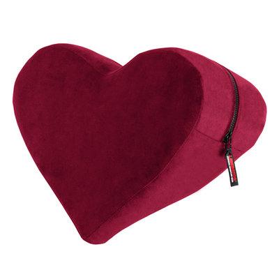Heart Wedge Positiekussen - Merlot