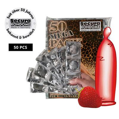 50 condooms met aardbeismaak