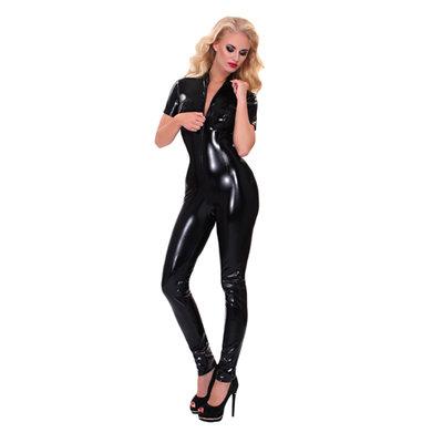 GP Datex Catsuit Met Rits - Zwart