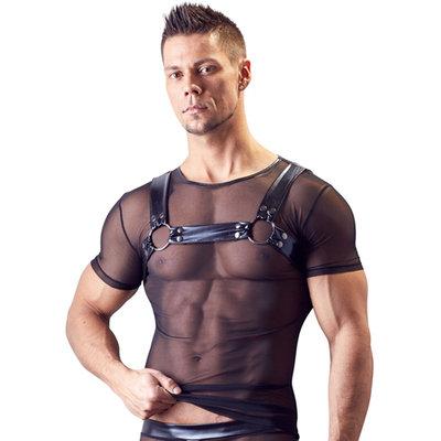 Netstof Shirt Met Harnas Look