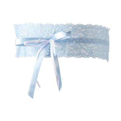 Kousenband licht blauw